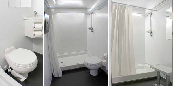 Temporary Bathroom Trailer Rentals With Showers in Gaffney SC
